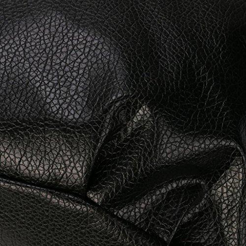 Umhängetasche,Honestyi Mode Frauen Elegant Umhängetasche Schulranzen Handtasche Geldbörse Bote frauen großer kapazität Geldbeutel Handtasche Handgefertigtes Portmonee Schwarz Schwarz