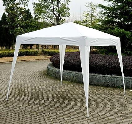 HOMCOM Cenador de campaña de Reception Plegable pabellón Carpa Barnum 2, 4 x 2, 4 m Blanco 32: Amazon.es: Jardín