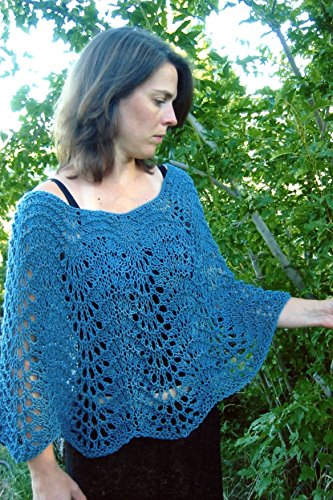 Easy Lace Poncho - Knitting Pure & Simple Knitting Pattern #251