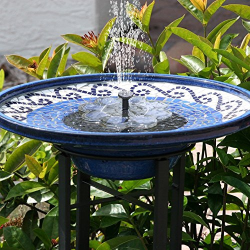 (Qualife Solar Water Fountains Outdoor,Solar Powered Fountain Pump for Bird Bath,1.6W Bird Bath Fountains Solar Power,Smart Small Water Pump for Garden Birdbath Pond)