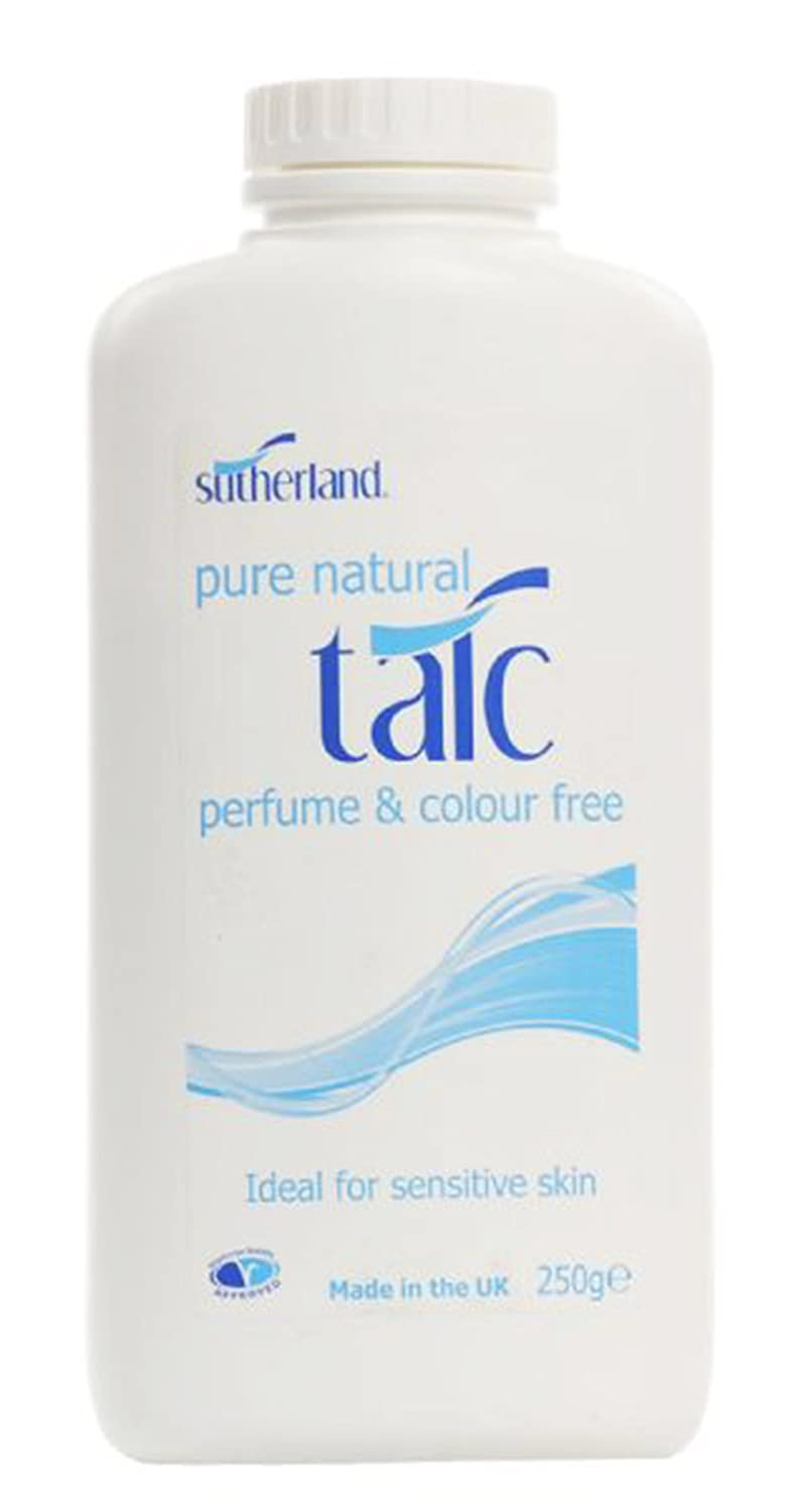 Sutherland 250g Pure Natural Talc - Pack of 6 Healthcenter 1061