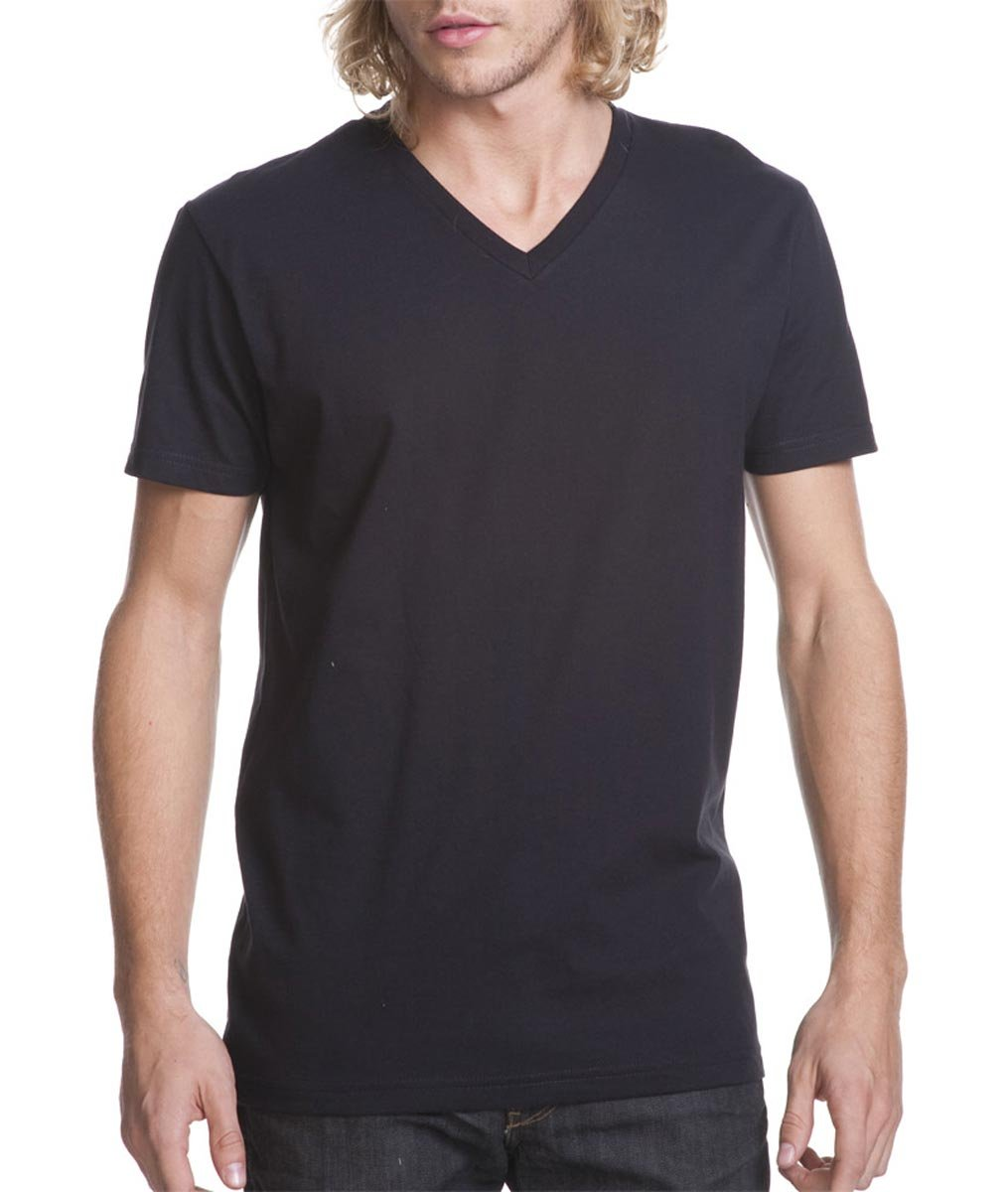 Black M Next Level Premium Fitted Short-Sleeve V