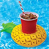 Honana CF-IC06 Mini Pineapple Floating Inflatable Coasters Swimming Pool Drink Phone Holder Stand (1pcs.)