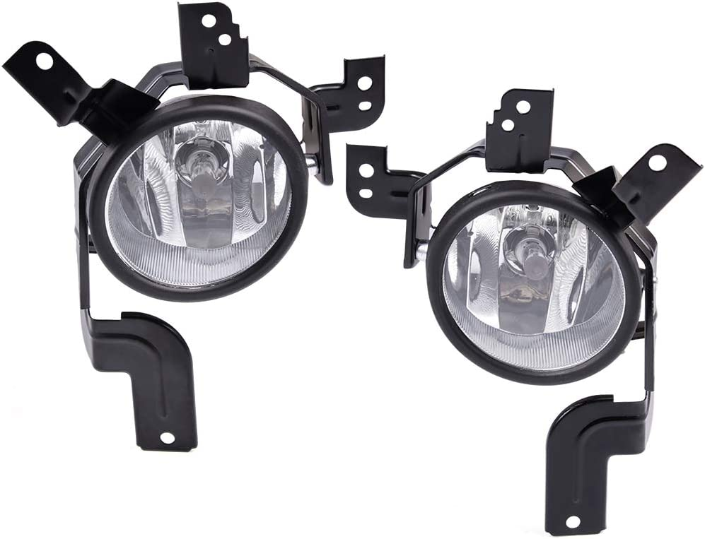 Compatible With 07-09 CRV Fog Lights Clear Lens Bumper Lamps Kit Accessories RP Remarkable Power