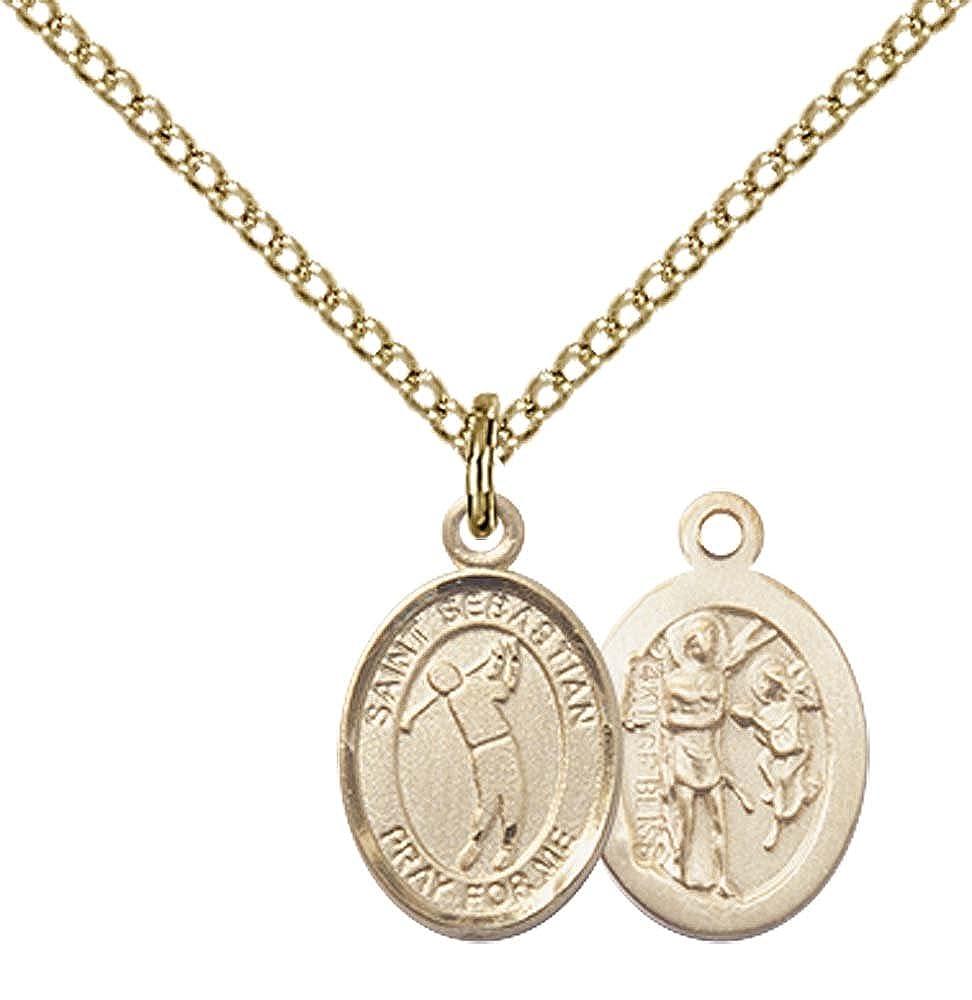 14kt Gold St Christopher Medal Patron Saint of Travelers//Motorists
