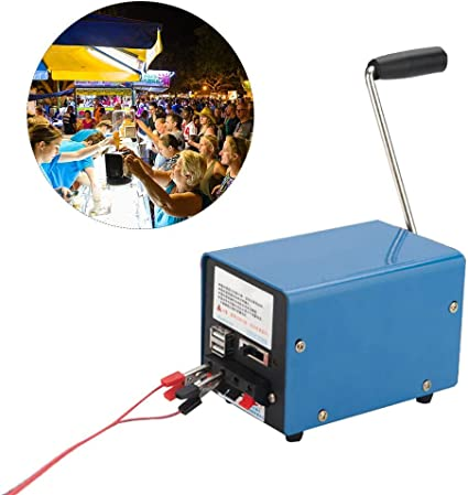 Generatore di Elettricit/à a Manovella a Mano Alimentazione di Emergenza Meccanica
