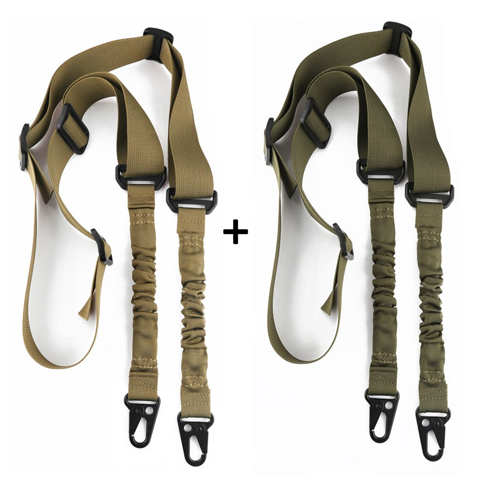 Accmor 2 Point Rifle Sling Extra Long Gun Sling Traditional Sling with Metal Hook for Outdoor Sports by Accmor