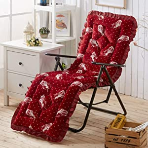 YEARLY Rocking Chair Cushions, Plush Bench Cushion Multifunction Thicken Patio Furniture Sofa Matt mat Wicker Lounge Chair Cushions-red 53x163cm(21x64inch)