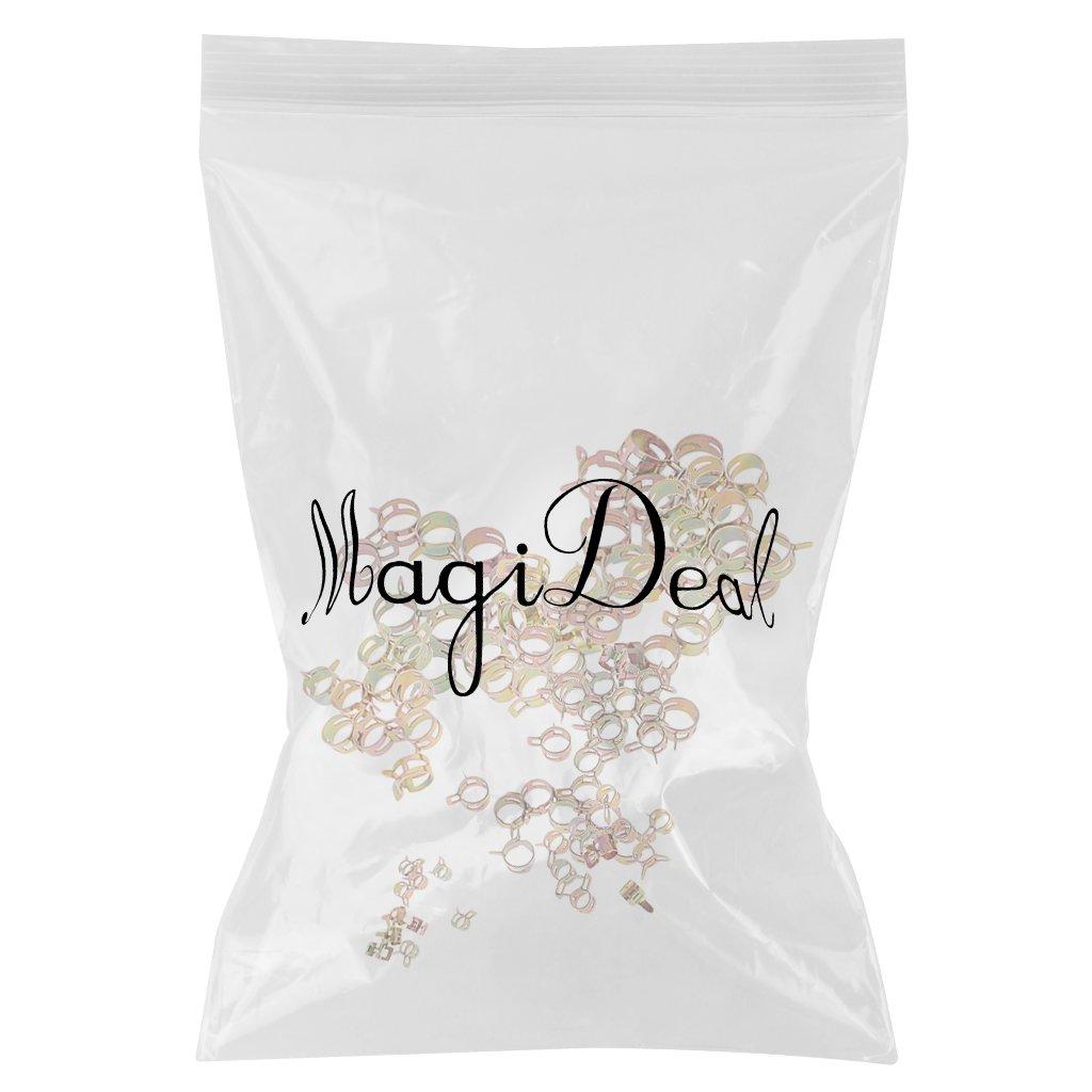 MagiDeal 100 St/ück Spring Clip Heiz/öl Wasser Schlauch Rohrbefestigung 6//8//10//12//14//15//16//18mm