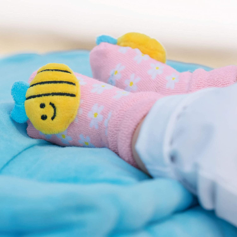 Gr/ö/ße Sterntaler Baby-Rassels/öckchen 16, Bienen-Motiv