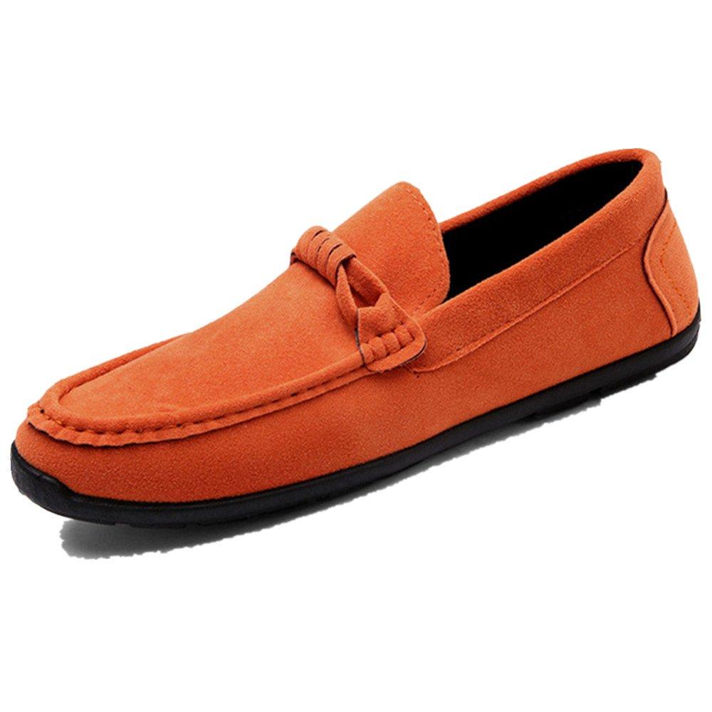 LIEBE721 Mode Lauml;ssig Schuhe Raster Slip auf Mauml;nner Beliebte Freizeitschuhe  40 EU|Orange