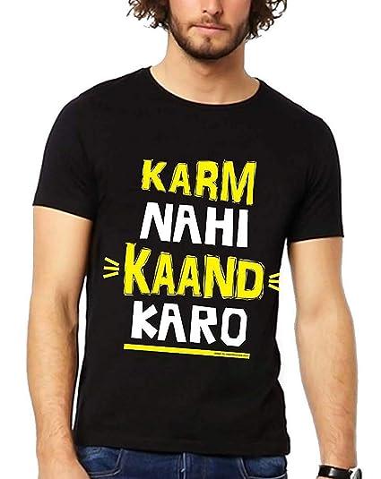 66d58e62e The Banyan Tee Karm nahi Kaand Karo Funny Tshirt - Witty Tshirts by TBT