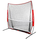 PowerNet 7x7 ft Portable Tennis Net and Pickleball Trainer   Multi-Sport Trainer   49 sqft of Hitting Area   Net and Frame   Driveway, Indoor, Outdoor, Street, Backyard   EZ Setup Collapsible