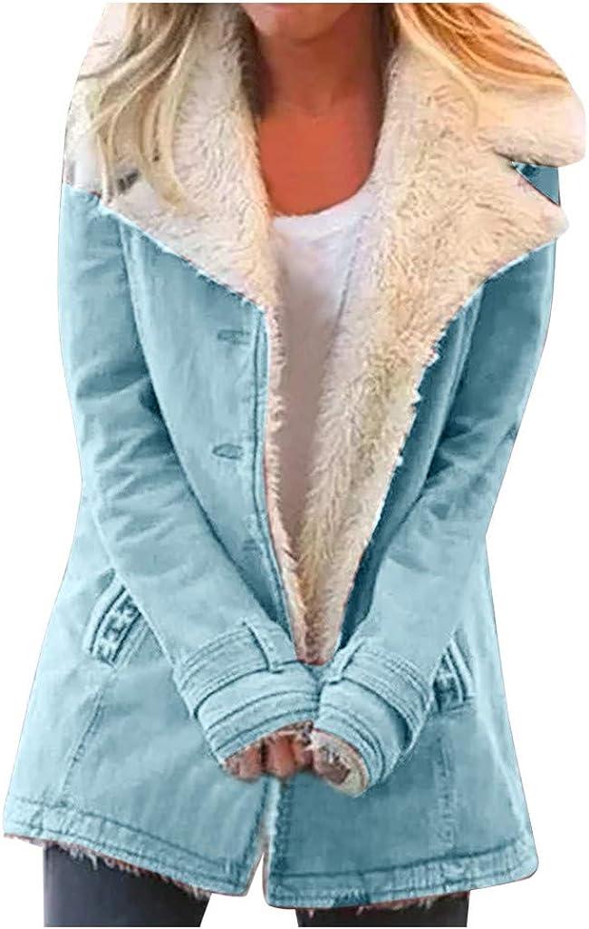 KYLEON Womens Coat Hooded Warm Winter Coats with Faux Fur Lined Outwear Jacket Fleece Hoodie Parkas Overcoat Pea Long Coat