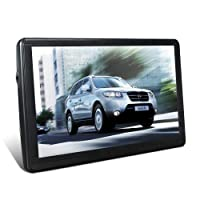 7 Inches 8GB Capacitive Car Touch Screen Car Sat Nav, Multilingual Navigation Navigation Features Includes Lifetime Free Updated Maps of United Kingdom, European Union.
