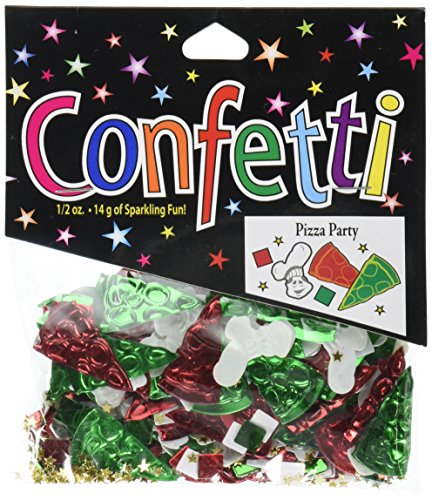 Beistle CN078 Pizza Party Confetti, 1/2-Ounce