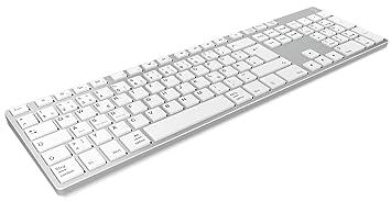 KeySonic KSK-8022BT - Teclado (Estándar, Inalámbrico, Bluetooth, Interruptor de Membrana