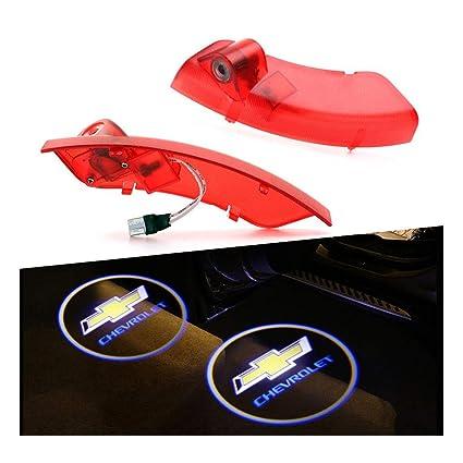 RCJ- Luz LED para puerta de coche, diseño de con logotipo de proyector láser