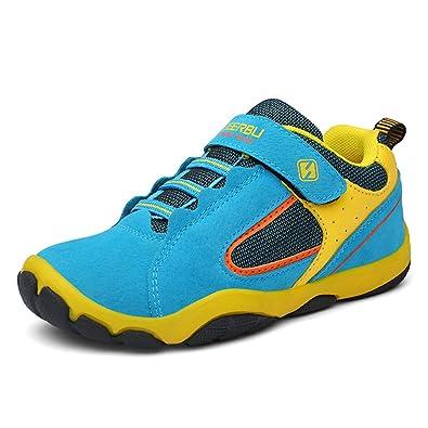 e201c9292c922f XFYFLF Kinder Schuhe mit Klettverschluss Jungen Trekking Wanderschuhe Mädchen  Halbschuhe Turnschuhe Outdoor Sportschuhe Lauf Sneaker (