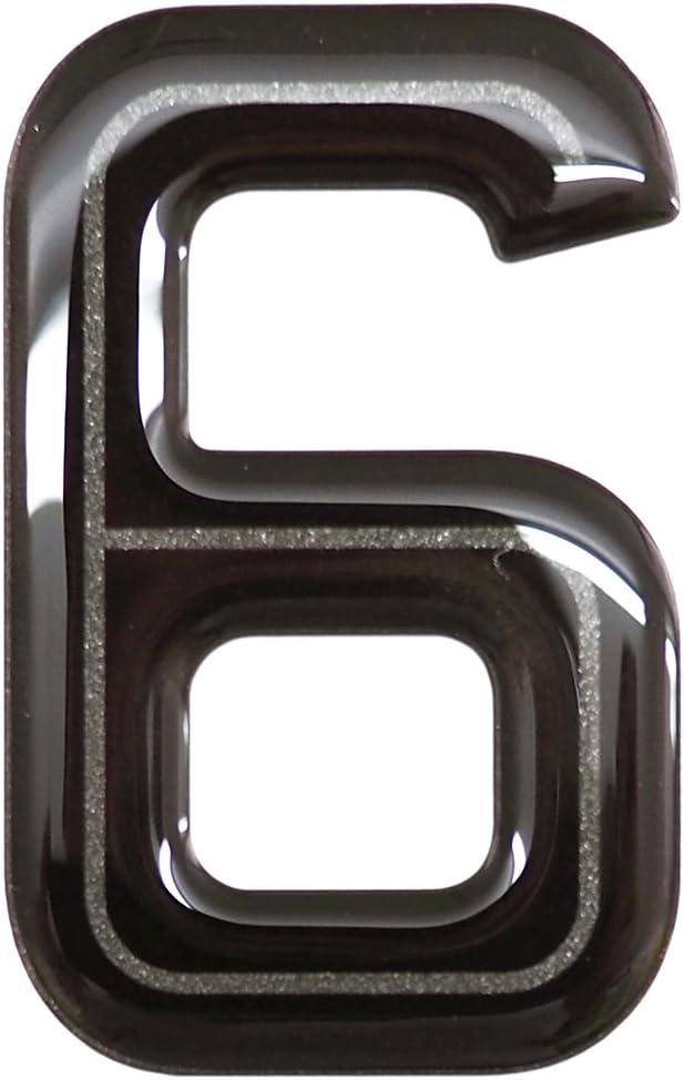 Highline Gel Domed Self Adhesive Number Plate Digit 2
