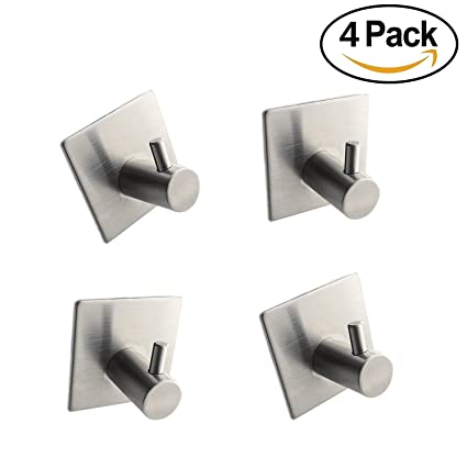 kitchen towel hooks. Exellent Hooks 3M Self Adhesive CoatRobe Hook For Bathroom Kitchen Towel HookNo Drilling  Required On Hooks