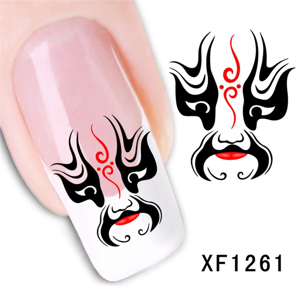 Gaddrt Nail Art Stickers Fresh Style Flower Print 3D Nail Art Stickers Manicure Adhesive Transfer Decals (C) (C)