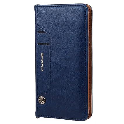 HARRMS Handyhülle Handytasche Samsung Galaxy S7 Edge mit Kartenfach Kredit Karten Geldklammer Hülle Kunst Leder Handy Schutzh