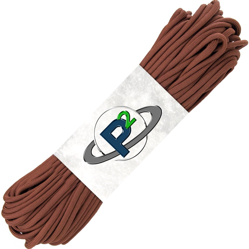 PARACORD PLANET Mil-Spec Commercial Grade 550lb Type III Nylon Paracord (Chocolate Brown, 50 feet) by PARACORD PLANET