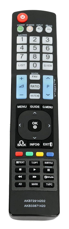 AKB72914202 AKB33871420 代替リモコン 対応機種: LG TV 55le8500 55le5500 55le7500 55le5400 42le5500 47le5500 42le5400 47le5400 50pk750 60pk750 47ld650 55ld650 60ld550 46ld550 52ld550 32ld550   B07QLRZJSK