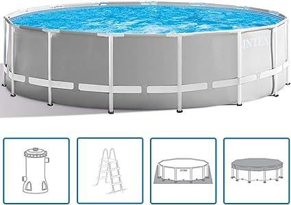 INTEX - Piscina elevada Prism Frame de 457 x 122 cm para jardines y terrazas: Amazon.es: Deportes y aire libre