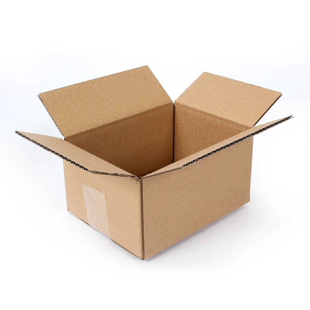 "Pratt PRA0016 100PK 100% Recycled Corrugated Cardboard Box, 8"" Length x 6"" Width x 4"" Height (Pack of 100)"