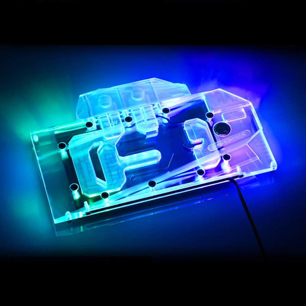 5V 3Pin RBW LED Block Bykski GPU Copper RBW LED Water Cooling Block for NVIDIA GeForce RTX3090 RTX3080 Founders Edition