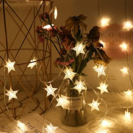 Christmas Tree Hanging Decors String Lights 20LED Warm Light Party Ornaments
