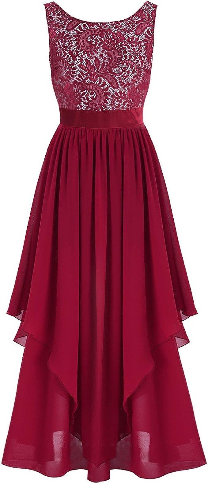 TiaoBug Elegante Damen Kleider Festliche Cocktail Hochzeit Abendkleid Lange  Kleider 16/16 16 16 16/16 16 16