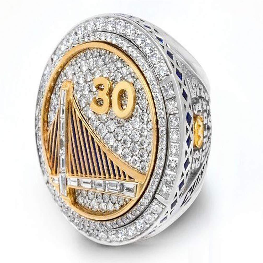 WANZIJING Males Ring R/éplique De Bague De Champion du Monde De La NBA du Monde De Football des Golden State Warriors De 2015 /À 9-12 pour Les Bijoux pour Hommes