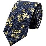 Westeng Cravate florale pour homme en Coton cravates