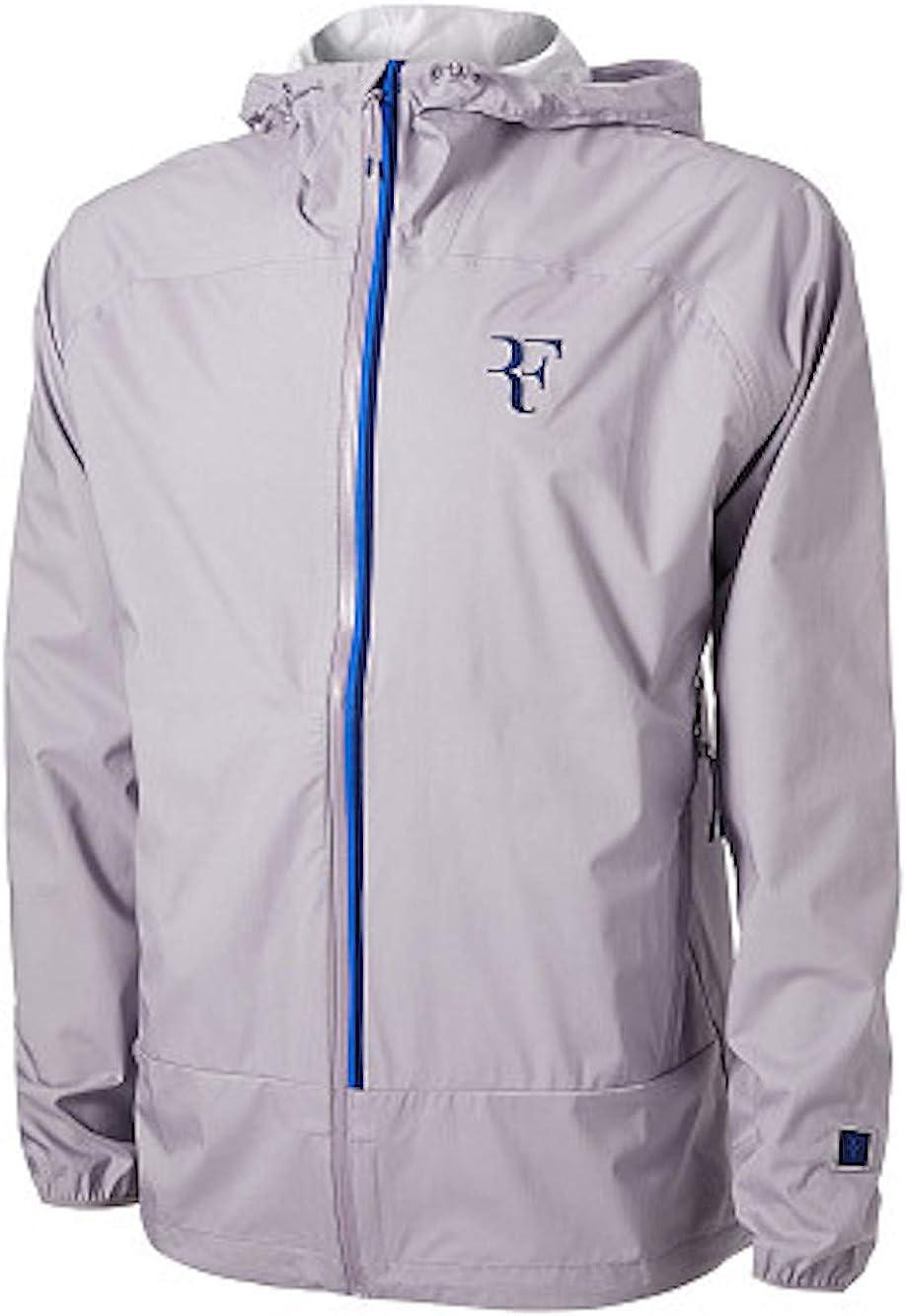 Nike Mens Rf Rafael Nadal Windbreaker Tennis Jacket Gray Blue Size Large Ah8385 573 Exercise Fitness Amazon Canada