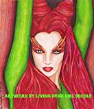 ORIGINAL Portrait Drawing : ''Toxic'' - Uma Thurman Poison Ivy Batman Comic Book Movie Villains Art