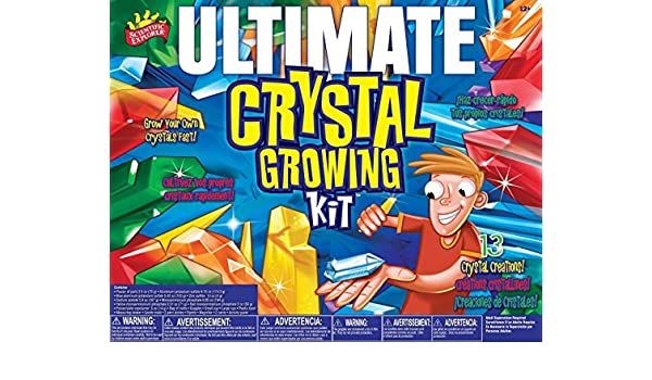 Amazon.com: Scientific Explorer Ultimate Crystal Growing Kit Most Impressive Crystal Growing Kit You will Ever Find With 13 Different Growing Activities ...