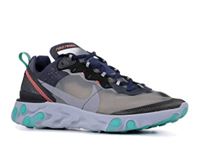 low priced aa4e0 35a0c Nike Men s React Element 87, Black Midnight Navy-Neptune Green, ...