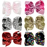Yazon 14pcs 2.8 inch Layered Glitter Bows with...