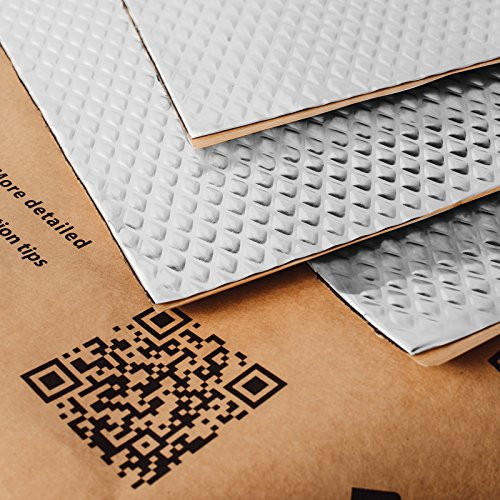 Noico 80 mil 10 sqft car Sound deadening mat, Butyl Automotive Sound Deadener, Audio Noise Insulation and dampening (Best Insulation For Noise)