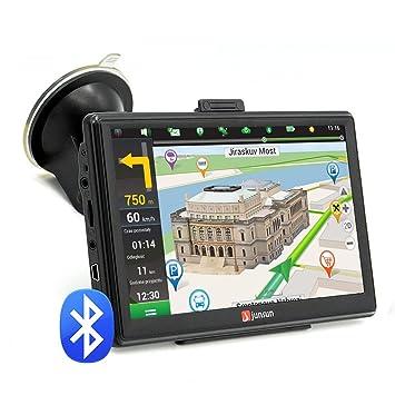 7 pulgadas 8 GB FM Bluetooth avin de navegación GPS para coche/256MB pantalla capacitiva
