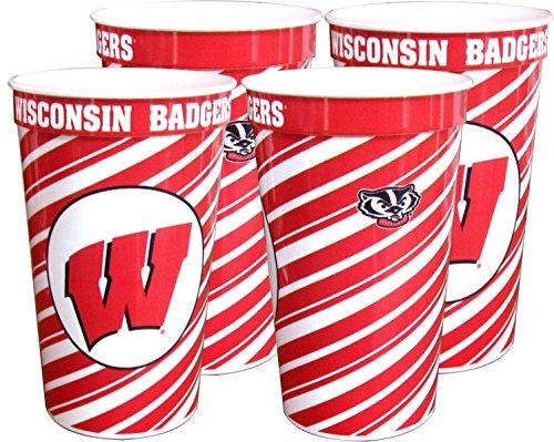 (Wisconsin Badgers 22 oz Souvenir Cups - 4/pkg.)