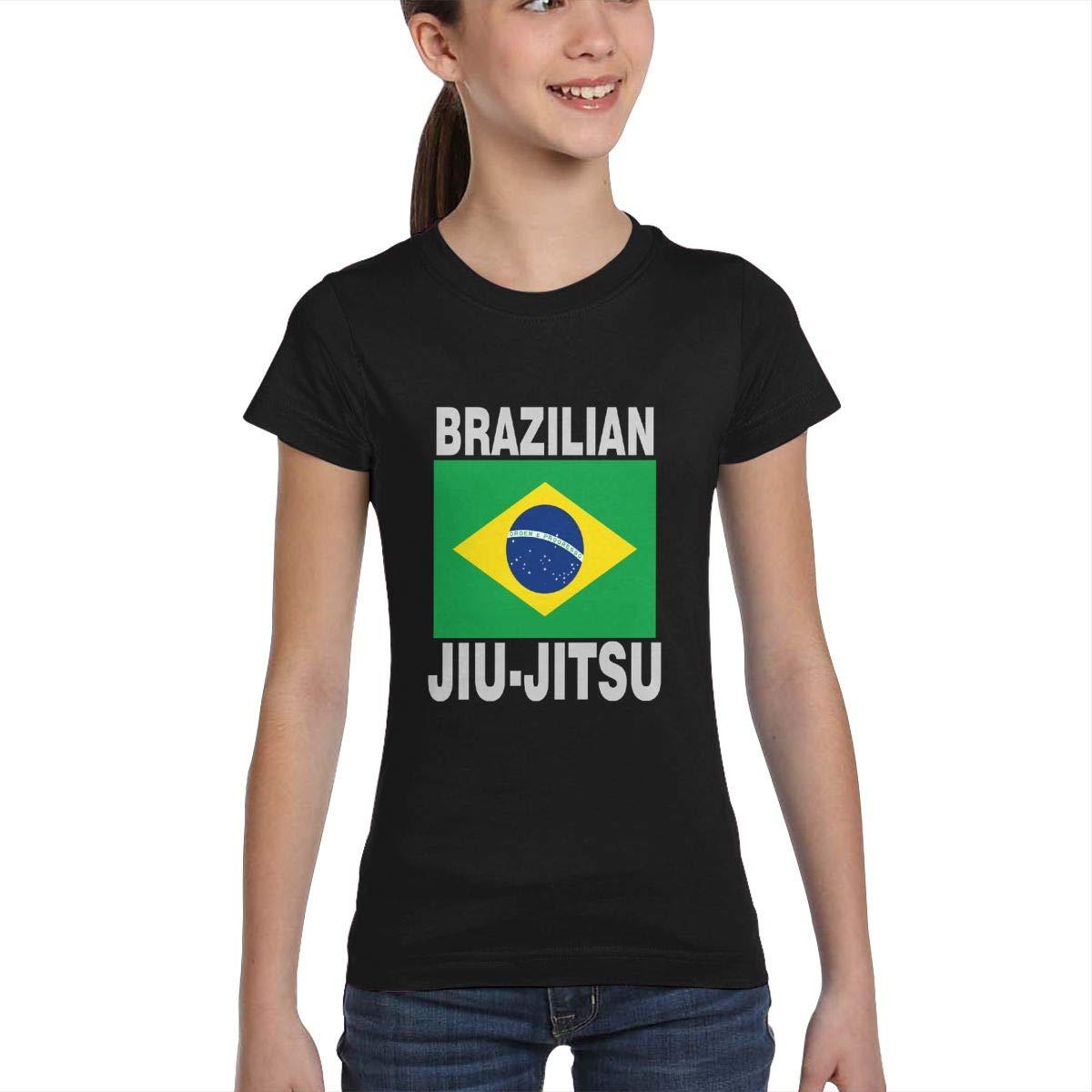 Casual Tunic Shirt Dress XS-XL L6Nv4o@A Girls Short Sleeve Brazilian Jiu Jitsu T-Shirts