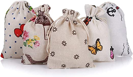 Hongyantech - 20 Sacos de Yute Naturales de Lino, Bolsa de algodón ...
