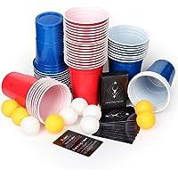 AOLUXLM Tazas de plástico, 50 Tazas de Cerveza