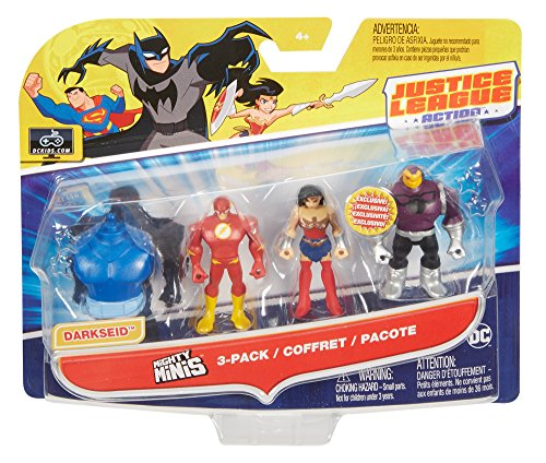 61SwzBBLckL DC Justice League Action Mighty Minis Wonder Woman, The Flash, & Mongul Mini Figures, 3 Pack