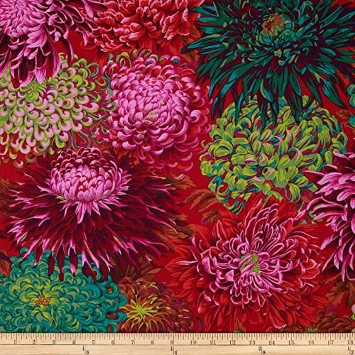 (Free Spirit Fabrics Kaffe Fassett Collective Japanese Chrysanthemum Scarlet Fabric by The Yard)