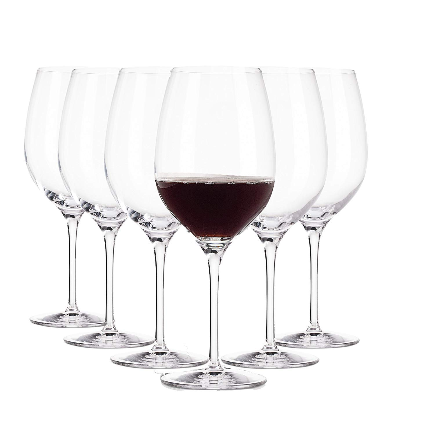 Arcoroc Red wine Glasses / Set of 6 / 370 ml / Ø 65 mm / Up to 5 times more resistant against shocks than similar models / Made in France